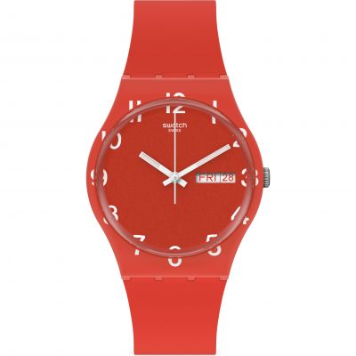 Swatch Original Gent Over Red Unisexuhr in Rot GR713