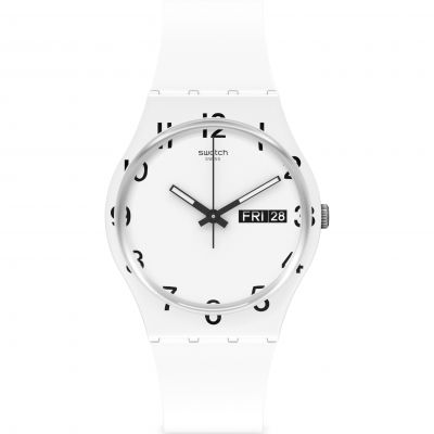 Swatch Original Gent Over White Unisexuhr in Weiß GW716
