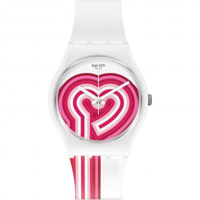 Swatch Original Gent Beatpink Unisexuhr in Pink GW214