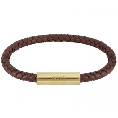 Boss Heren Braided Leather Leather 1580151