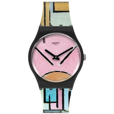 Swatch Original Gent Composition In Oval With Color Planes 1 Unisexuhr in Mehrfarbig GZ350