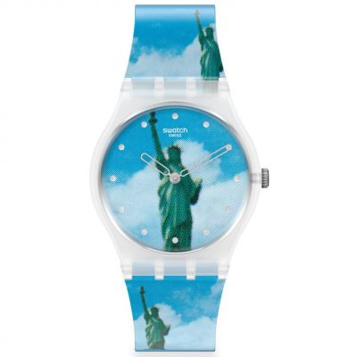 Swatch Original Gent New York By Tadanori Yokoo, The Watch Unisexuhr in Mehrfarbig GZ351
