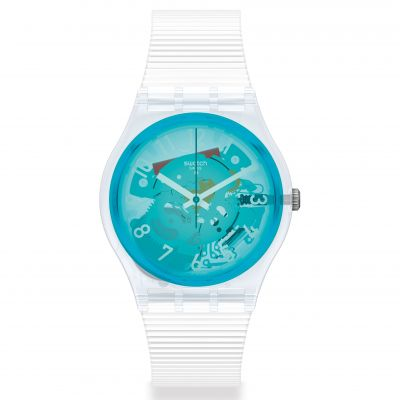 Swatch Original Gent Retro-Bianco Unisexuhr in Weiß GW215