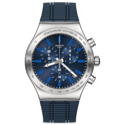 Montre Chronographe Homme Swatch Electric Blue YVS478