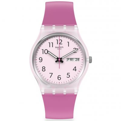 Swatch Original Gent Rinse Repeat Pink Damenuhr in Pink GE724