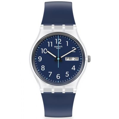 Swatch Original Gent Rinse Repeat Navy Unisexuhr in Marine GE725