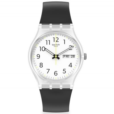 Swatch Original Gent Rinse Repeat Black Unisexuhr in Schwarz GE726