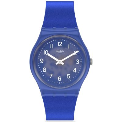 Swatch Original Gent Blurry Blue Unisexuhr in Blau GL124