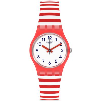 Swatch Original Lady Blue Boat Damenuhr in Rot LR135