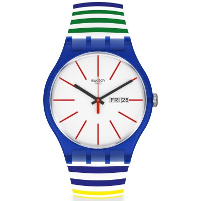 Reloj para Unisex Swatch Home Stripe Home SUON715
