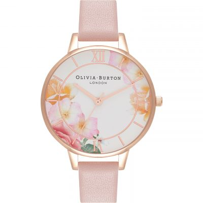 Olivia Burton Tea Party Demi Pink and RG Damklocka Rosa OB16TP03