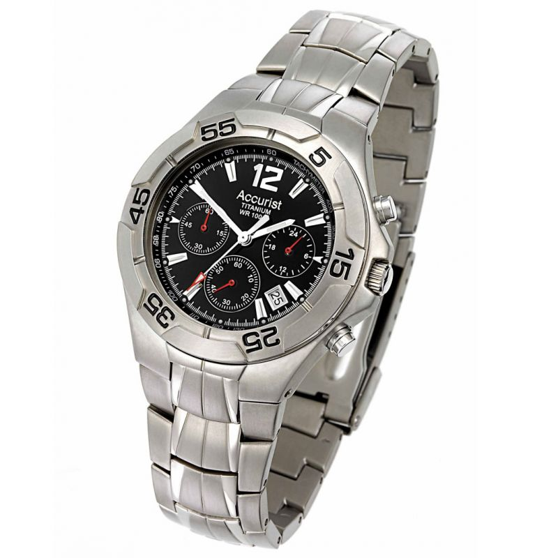 Mens Accurist Titanium Watch MB611B