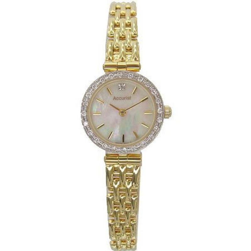Ladies Accurist 9ct Gold Watch GD1830