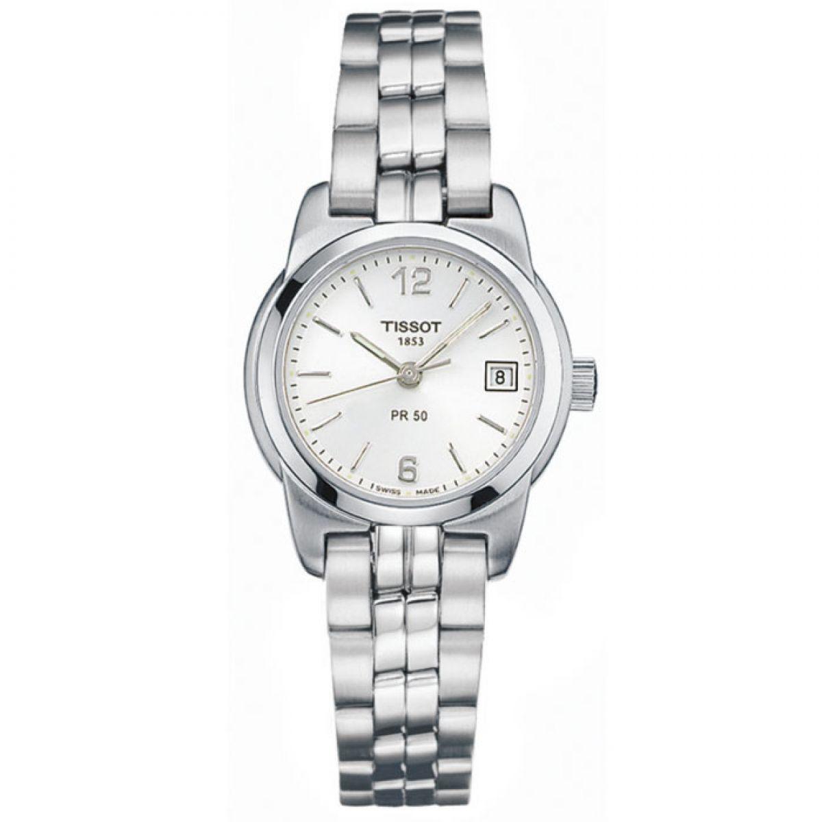 ladies tissot pr50 watch t34128132 watchshop com rh watchshop com Tissot PR 50 Titanium Watches Titanium Watches Men Tissot