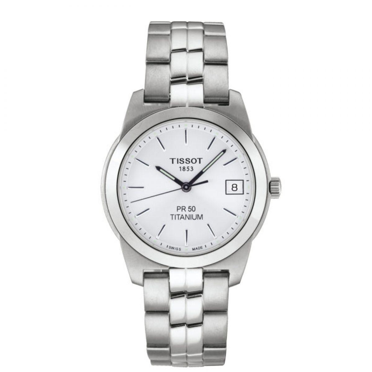 gents tissot pr50 watch t34748131 watchshop com rh watchshop com tissot pr50 seven titanium manual Tissot Titanium Date and Day