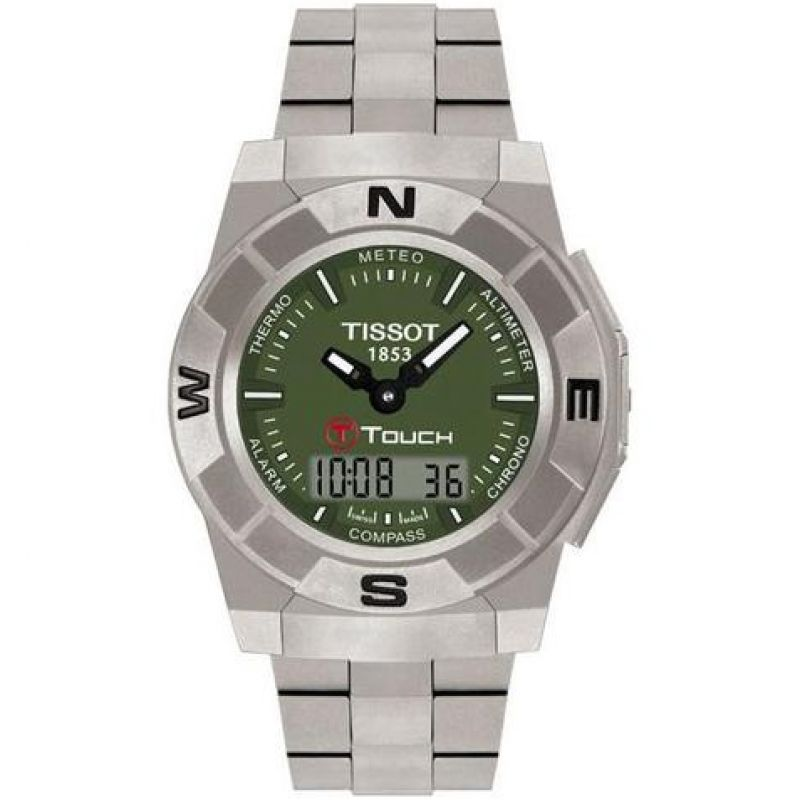 Mens Tissot T-Touch Trekking Alarm Chronograph Watch T0015204409100