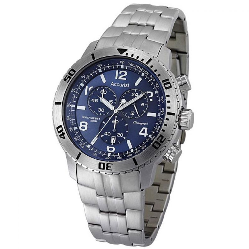 Mens Accurist All Terrain Chronograph Watch MB737N