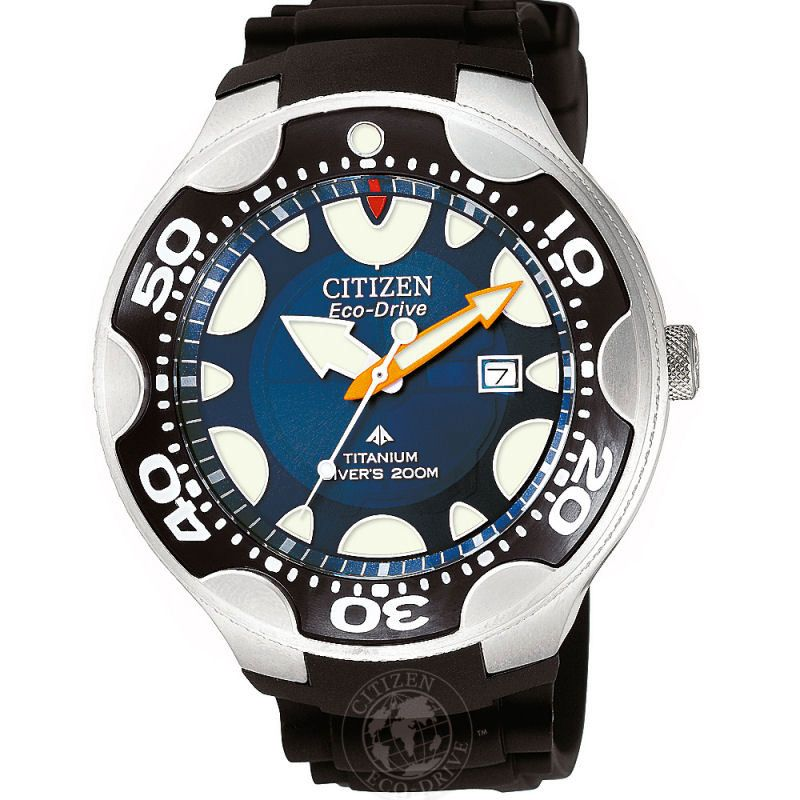 Mens Citizen Divers Titanium Watch BN0016-04L