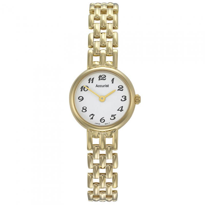 Ladies Accurist 9ct Gold Watch GD1665