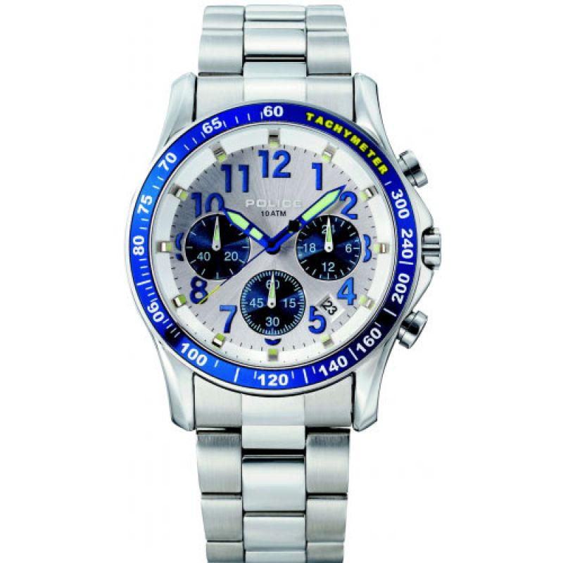 Mens Police Fast Lane Chronograph Watch 11306JS/04M