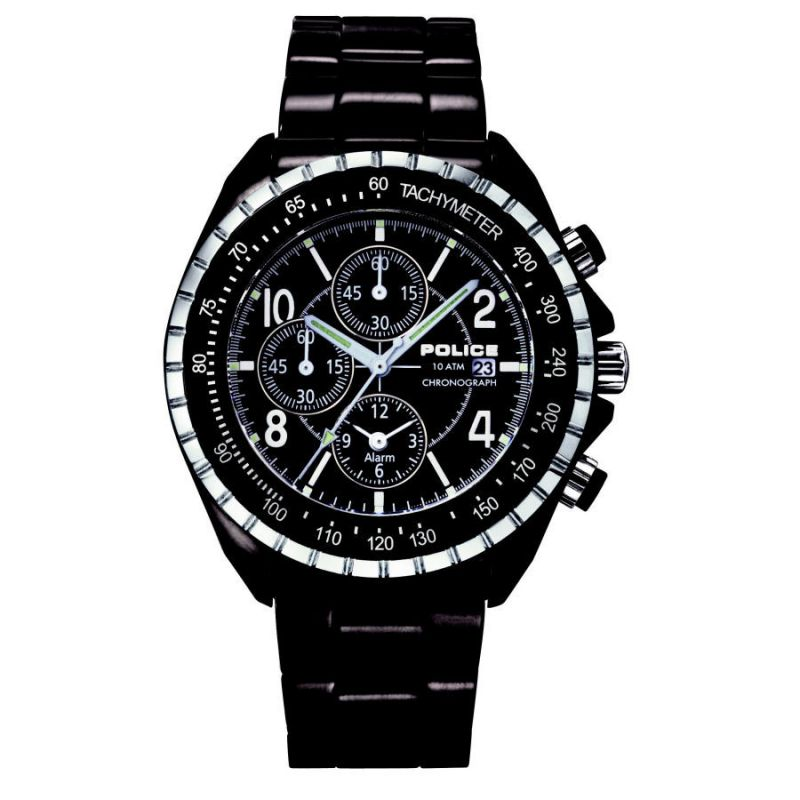 Mens Police Navy Alarm Chronograph Watch 10962JSB/02M