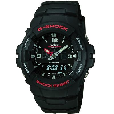 Casio G-Shock Antimagnetic Herrenchronograph in Schwarz G-100-1BVMUR