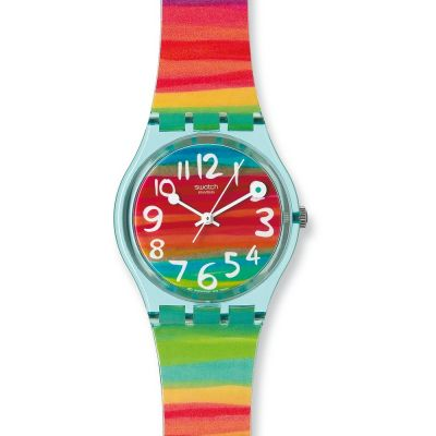Swatch Original Gent Color The Sky Unisexuhr in Mehrfarbig GS124