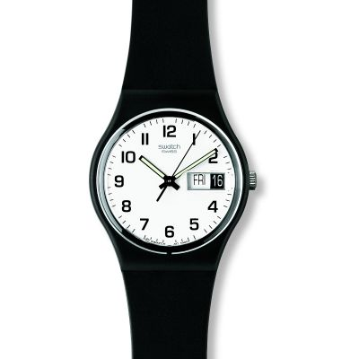 Swatch Original Gent Once Again Herrenuhr in Schwarz GB743