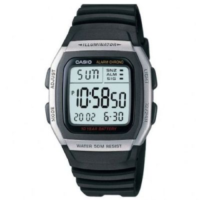 Mens Casio Sports Leisure Alarm Chronograph Watch W-96H-1AVES