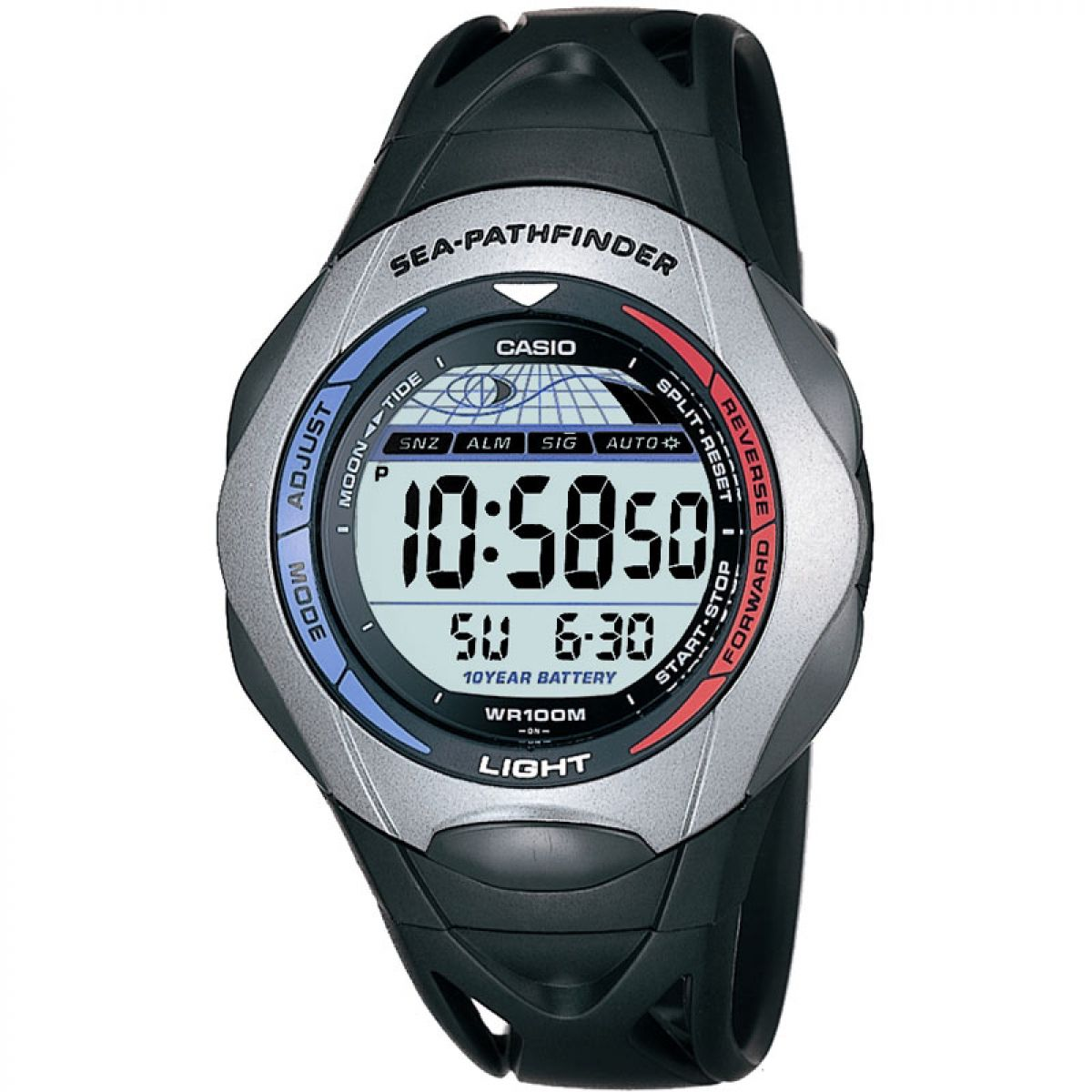 gents casio sea pathfinder alarm chronograph watch sps 300c 1ver rh watchshop com