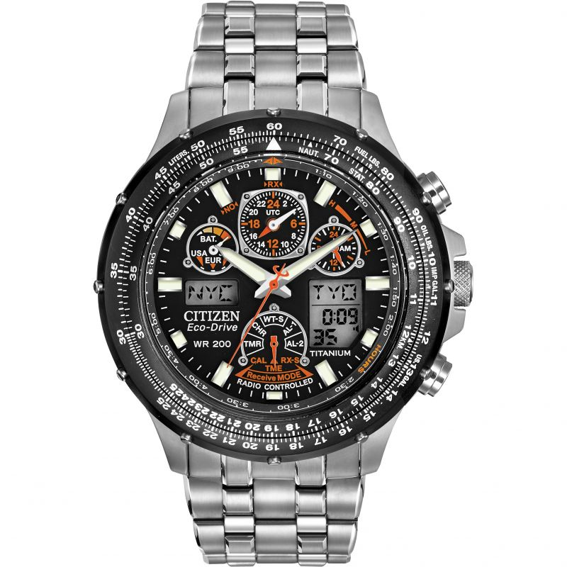 gents citizen skyhawk at alarm chronograph watch jy0010 50e rh watchshop com citizen eco drive wr200 skyhawk manual pdf citizen watch eco drive wr 200 manual