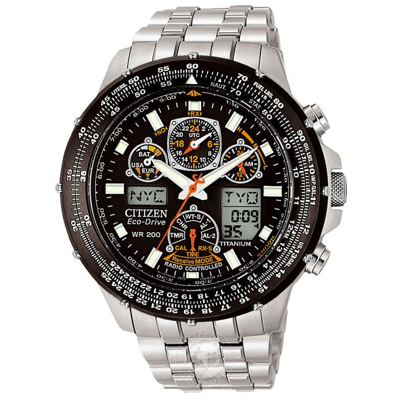 Mens Citizen Skyhawk AT Titanium Alarm Chronograph Radio Controlled Watch