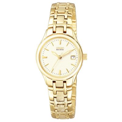 Citizen Ladies Eco-Drive Bracelet Damklocka Guld EW1262-55P