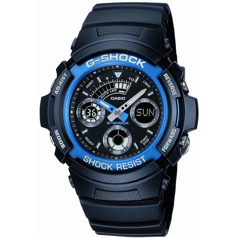 CASIO Uhr   Casio G-Shock Herrenchronograph in Schwarz AW-591-2AER