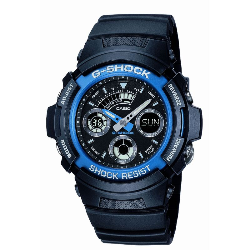 Mens Casio G-Shock Alarm Chronograph Watch AW-591-2AER