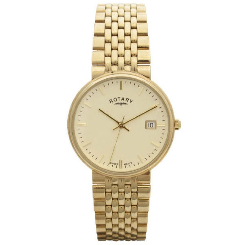 Mens Rotary 9ct Gold Watch GB11529/03