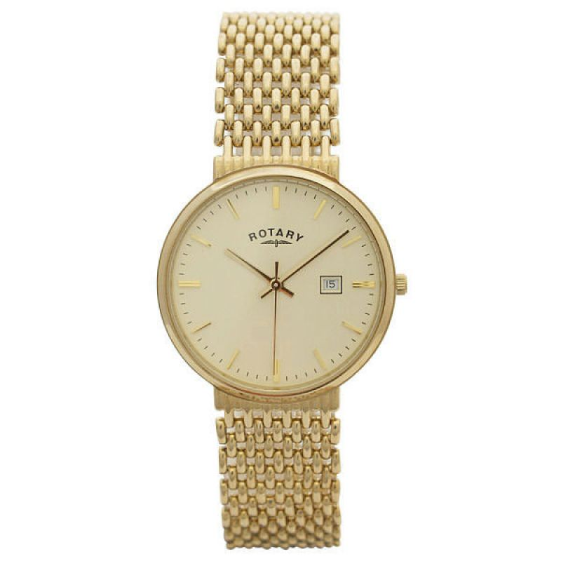 Mens Rotary 9ct Gold Watch GB10900/03