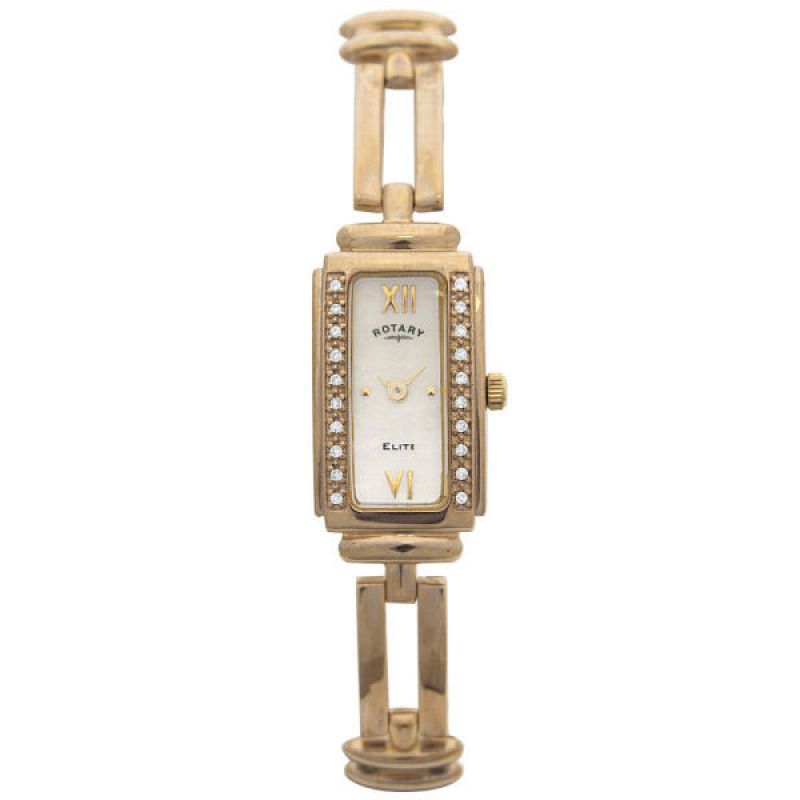 Ladies Rotary Diamond 9ct Gold Watch LB10167/07