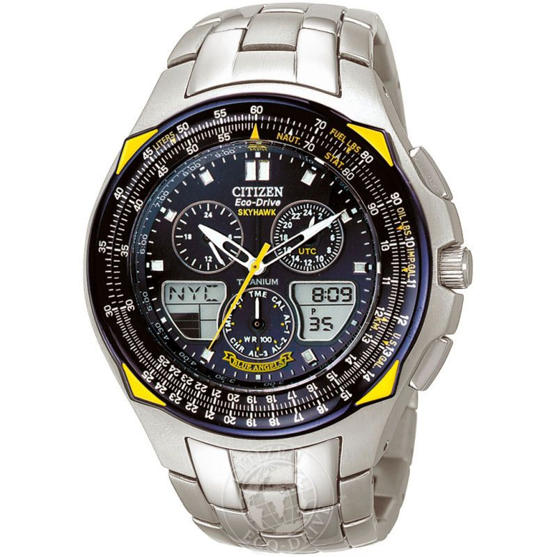Mens Citizen Titanium Alarm Chronograph Watch JR3090-58L