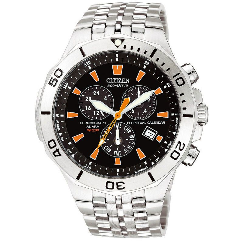 Mens Citizen Alarm Chronograph Watch BL5280-52E