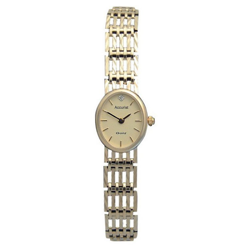 Ladies Accurist 9ct Gold Watch GD2550G