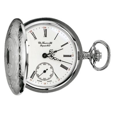 Tissot Savonette Full Hunter Pocket Fickurklocka Silver T83640113