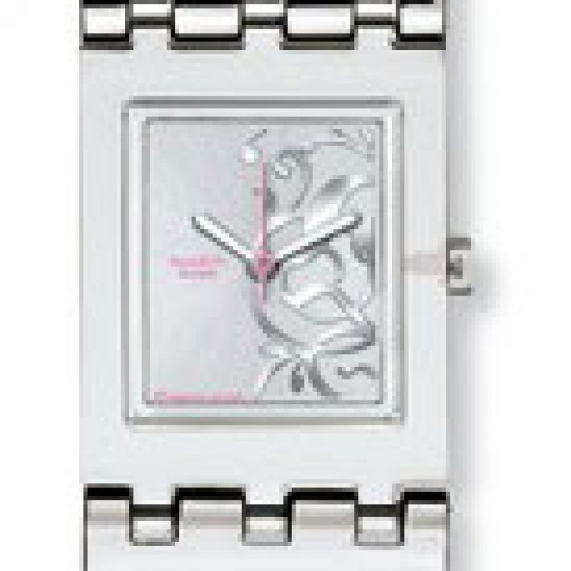 Ladies Swatch Leaf Spectacle Watch SUBM109G