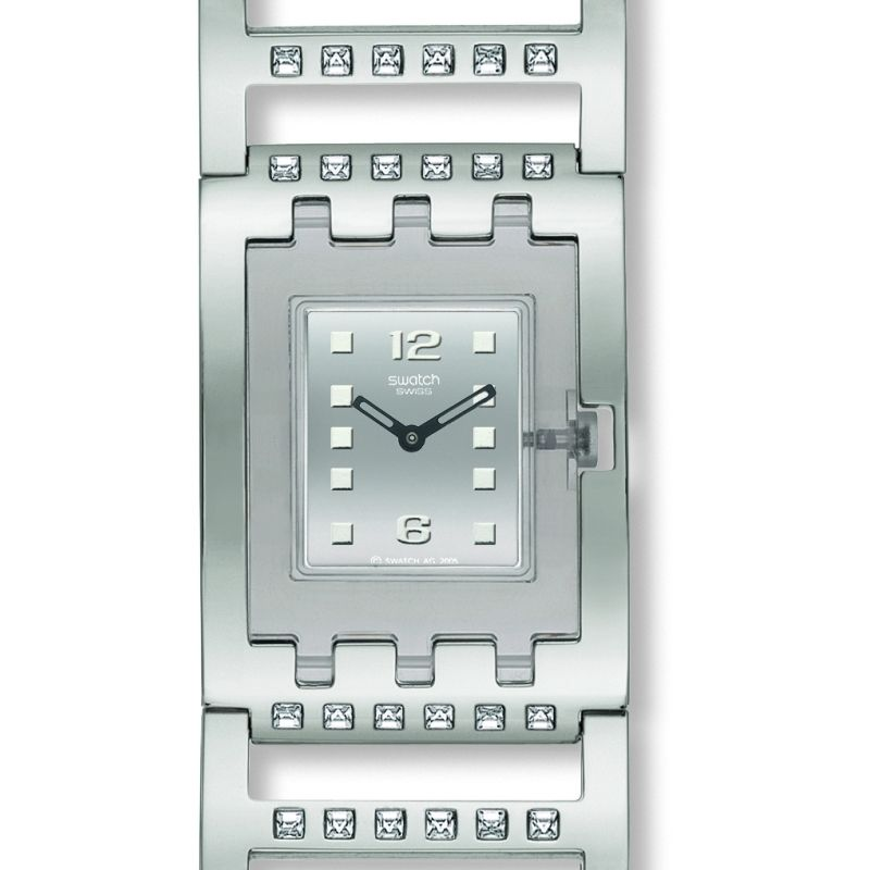 Ladies Swatch Brilliant Bangle Watch SUBM103G