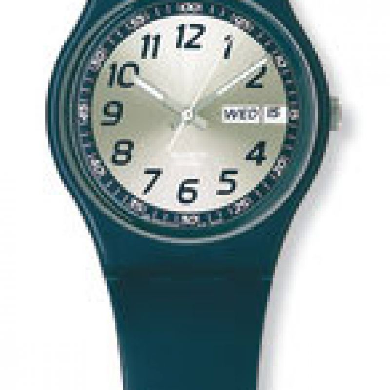 Mens Swatch Time In Blue Watch GN716