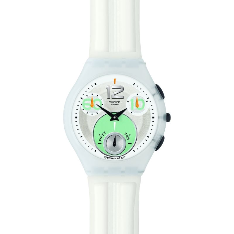 Ladies Swatch Fog Tide Chronograph Watch SUYW100