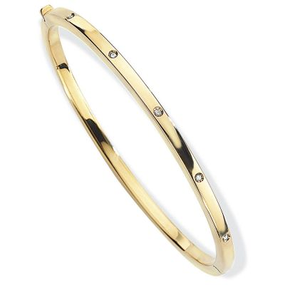 Jewellery Ladies 18ct Gold Bangle