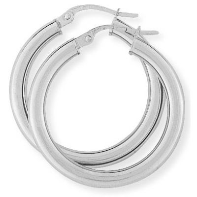 Jewellery 9ct White Gold Earring