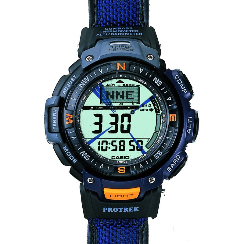 Mens Casio Pro Trek Alarm Chronograph Watch PRG-40B-2VER