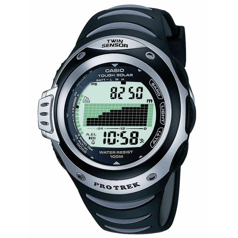 Mens Casio Pro Trek Alarm Chronograph Watch PRG-100-1AVER